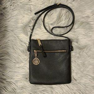 Black Leather Tommy Hilfiger Crossbody purse